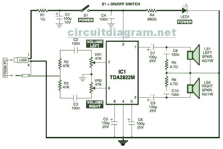 Usb Speaker Schematic Search For Wiring Diagrams