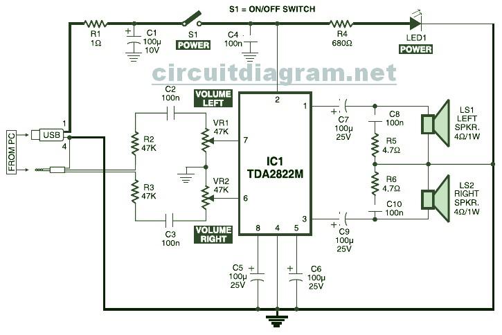 2x1w Stereo Amplifier With Ic Ka2209