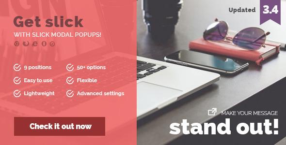 Slick Modal v3.4 – CSS3 Powered Popups