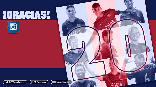 El FC Barcelona supera los 20 millones de seguidores en Instagram