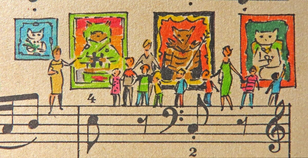08-Cats-Lyapunov-and-Erlich-Music-Sheets-Colored-Illustrations-www-designstack-co