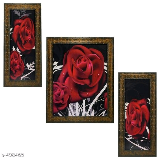 Stylish Wall Paintings (Set Of 3)