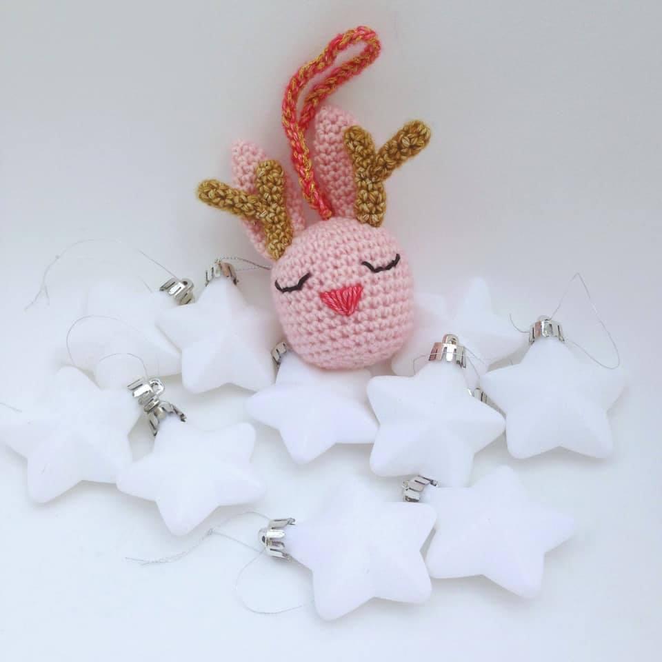 Martine De Regt Crochetlife Rendierkonijn Kerstbal Haakpatroon