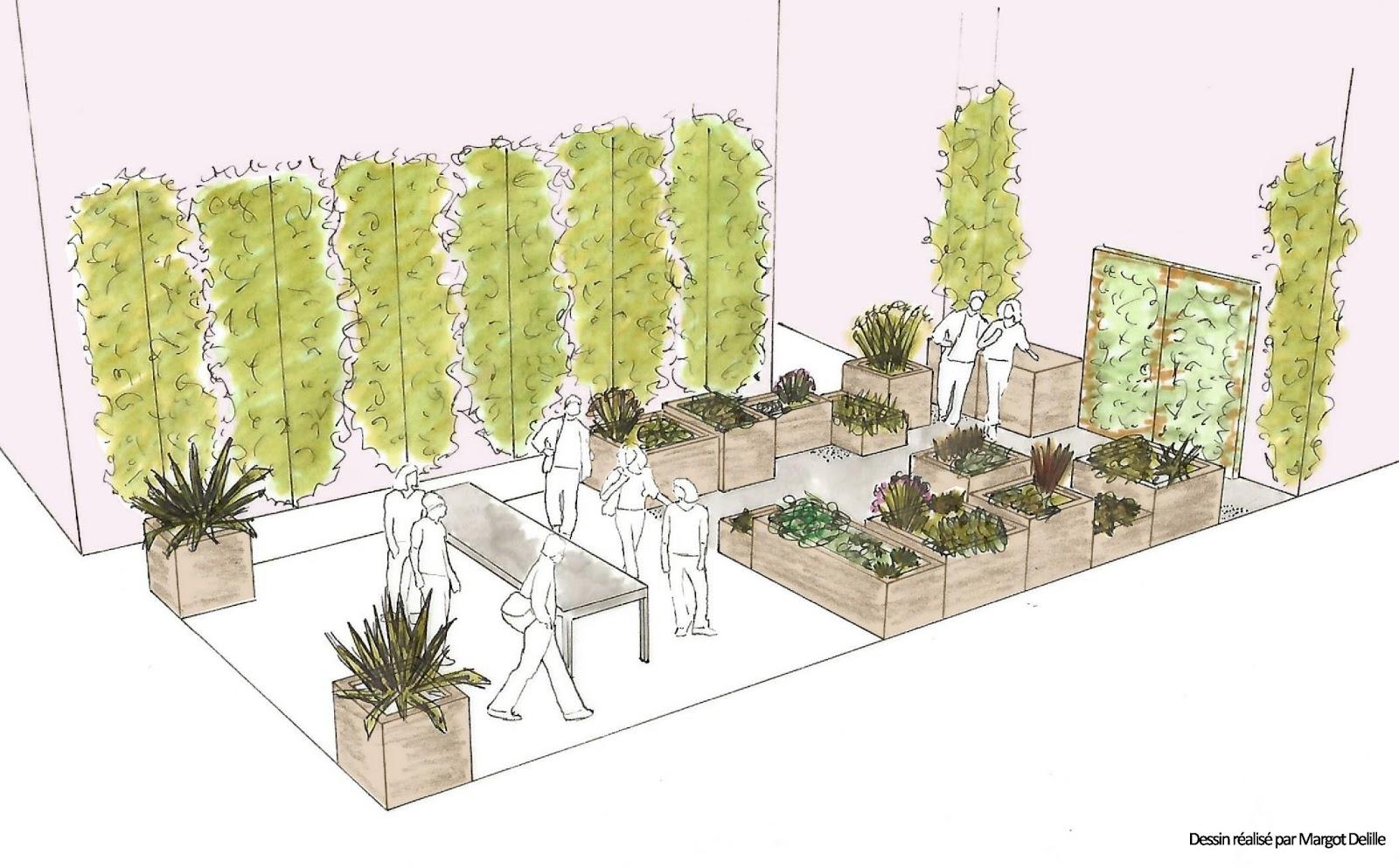 Le jardin des monnaies notre projet for Jardin dessin