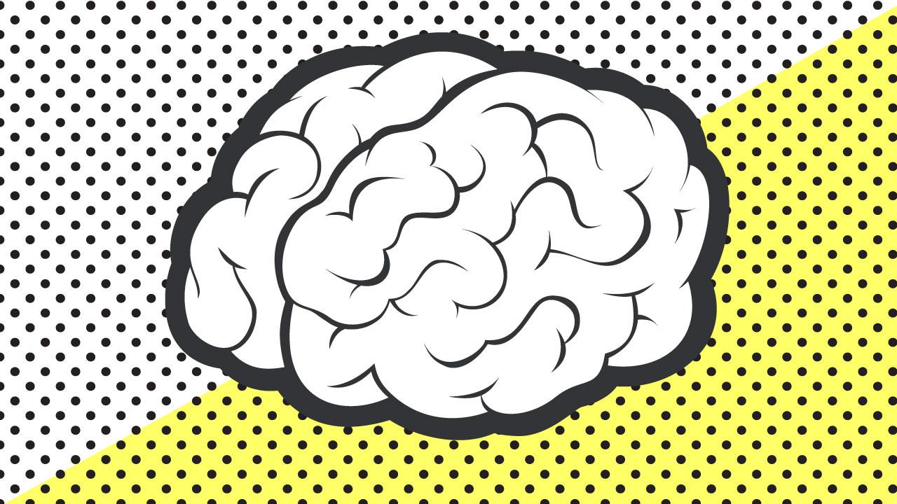 Dibujo cerebro vintage