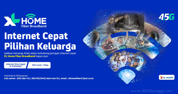 Paket Internet Unlimited XL Home Fiber Broadband