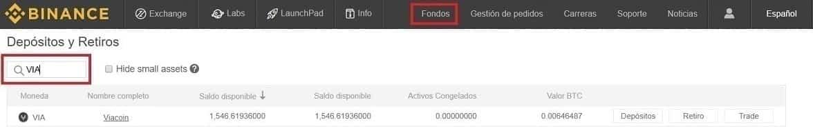 Configurar Español Wallet Oficial Viacoin (VIA)