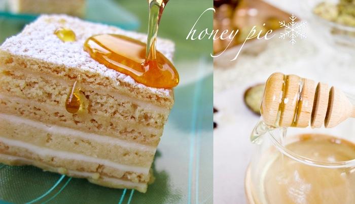 honey pie with local croatian honey