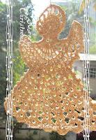crochet angel motif