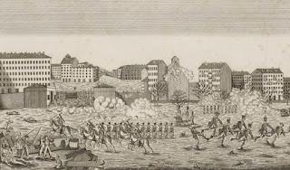 Lyon, novembre 1821, Barricade de la Croix Rousse - Bn - Département des Estampes