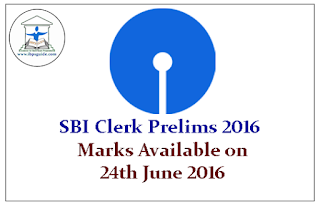 SBI Clerk 2016 – Preliminary Exam Marks will be Available on 24th June 2016