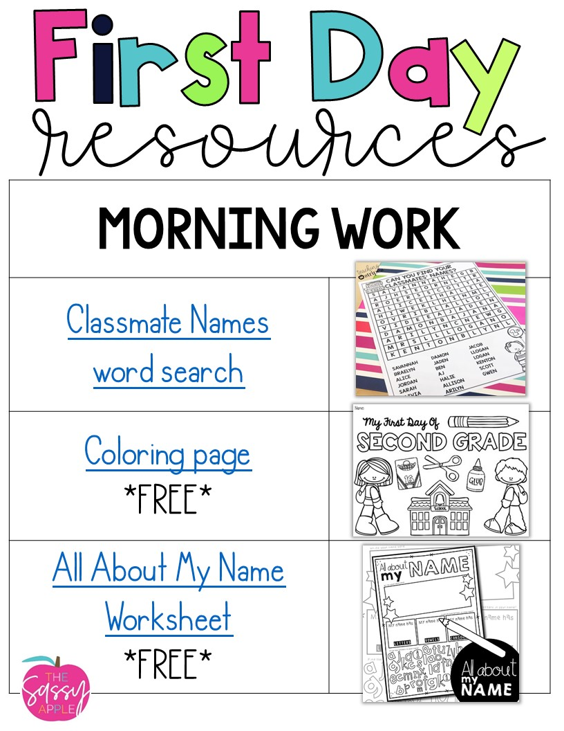 First Day Resource Round-Up - The Sassy Apple