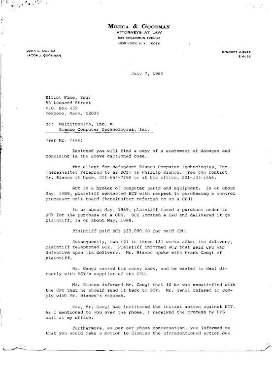 Phillip Bianco Legal Cases