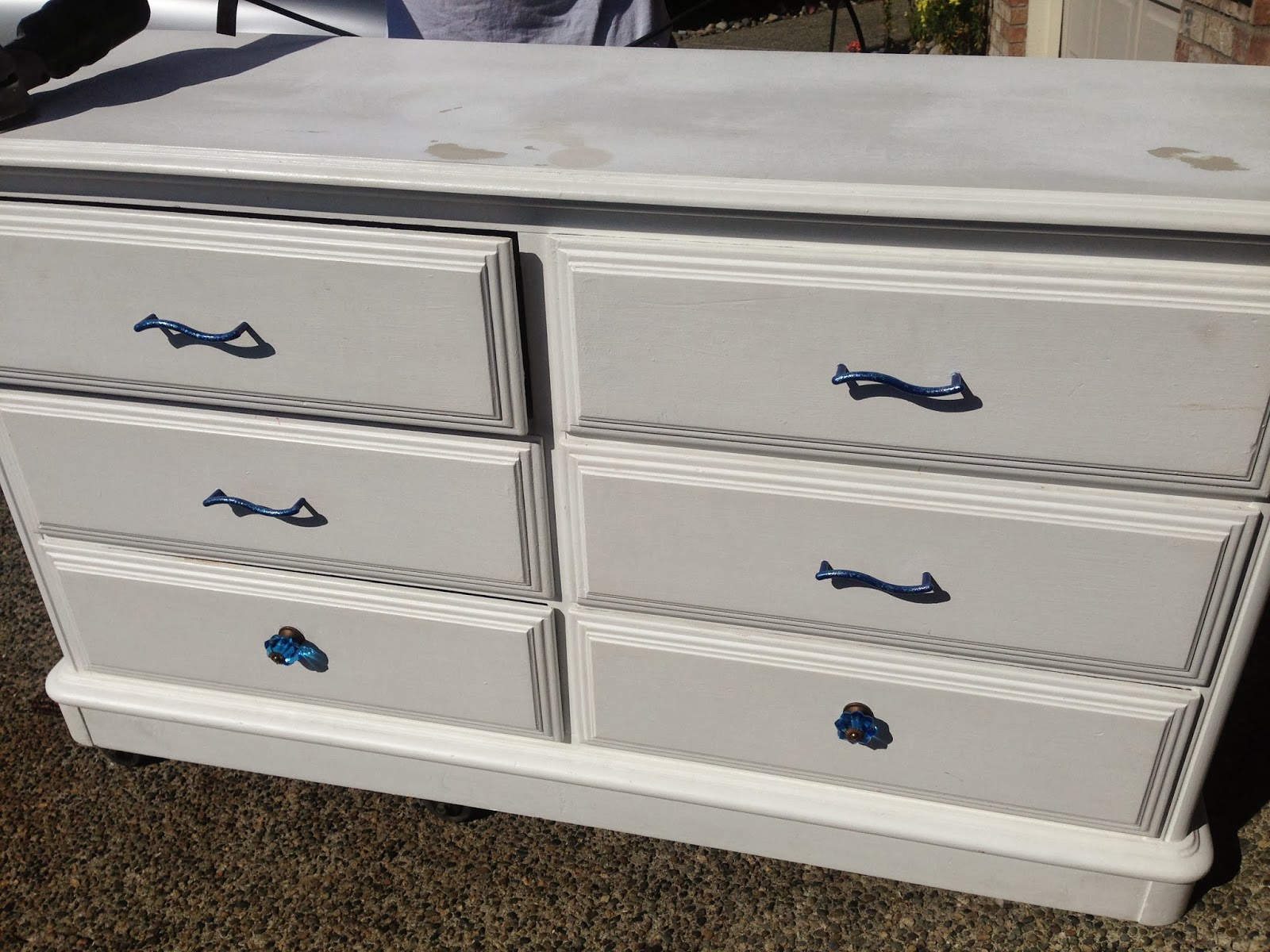 Excellent Sophisticated Junk Pile: Off-White and Gray Striped Dresser with  HA03