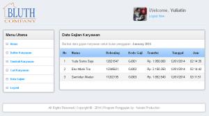 Aplikasi Penggajian Karyawan berbasis web dengan PHP native, MySQL