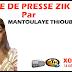 Revue de presse (Wolof) Zik fm du samedi 22 septembre 2018 par Mantoulaye Thioub Ndoye