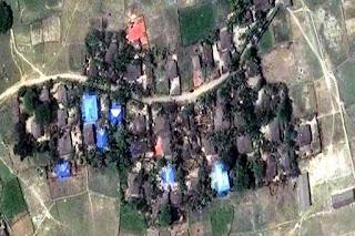 Dari Citra Satelit Terlihat Jelas Desa-desa Muslim di Myanmar Dibakar dan Dihancurkan