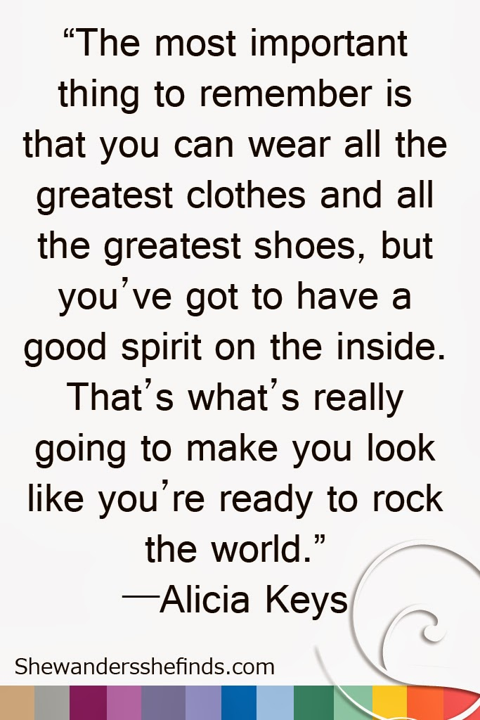 FASHION Quote by Alicia Keys
