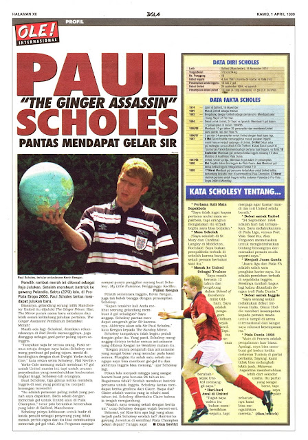 PROFILE PAUL SCHOLES THE GINGER ASSASSIN