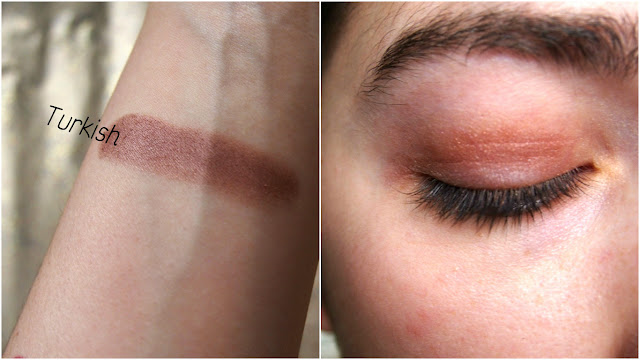 Swatch and application on eye
