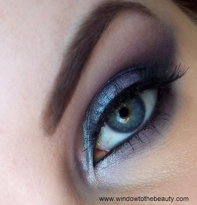 Gray purple Makeup