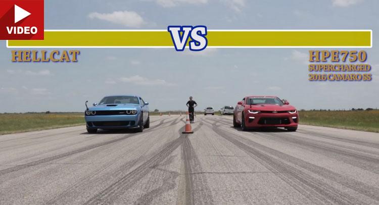 Liệu Hellcat có làm nên chuyện khi đối đầu với Camaro SS được độ động cơ siêu nạp?