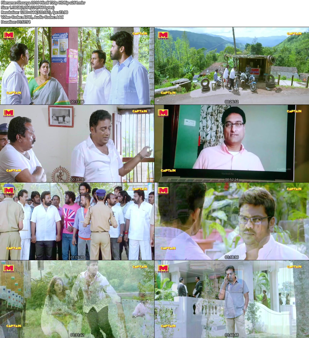 Shourya 2016 Hindi 720p HDRip x264 | 480p 300MB | 100MB HEVC Screenshot