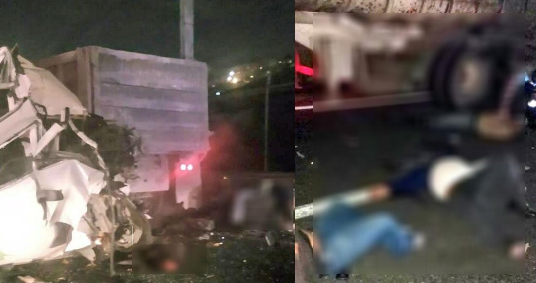 Un choque entre combi y tráiler deja 12 muertos y 5 heridos en la México-Pachuca
