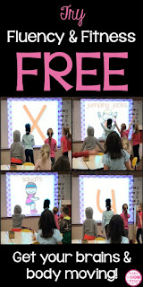 Try this Alphabet Fluency & Fluency for FREE! Fluency & Fitness can be used as a classroom brain break to help students have fun learning! There are over 50 literacy and math bundles (preK-5th grade) to choose from.title