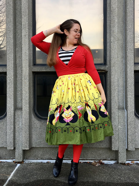 pinup girl queen of hearts jenny skirt