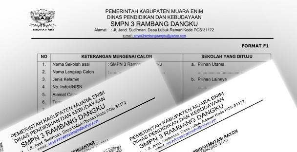 Administrasi PPDB 2015 Format F1 F2 dan SK Panitia serta Surat Mutasi Brosur