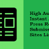 Free Do follow Instant Approval Press Release Submission Sites List