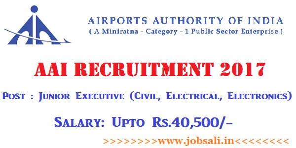 Airport Authority of India Recruitment 2017, Airport Authority Jobs, AAI Careers