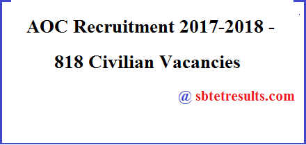 AOC Recruitment 2018, Civilian Vacancies