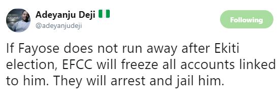 'Fayose will be arrested, EFCC will freeze all account linked to him' - Deji Adeyanju