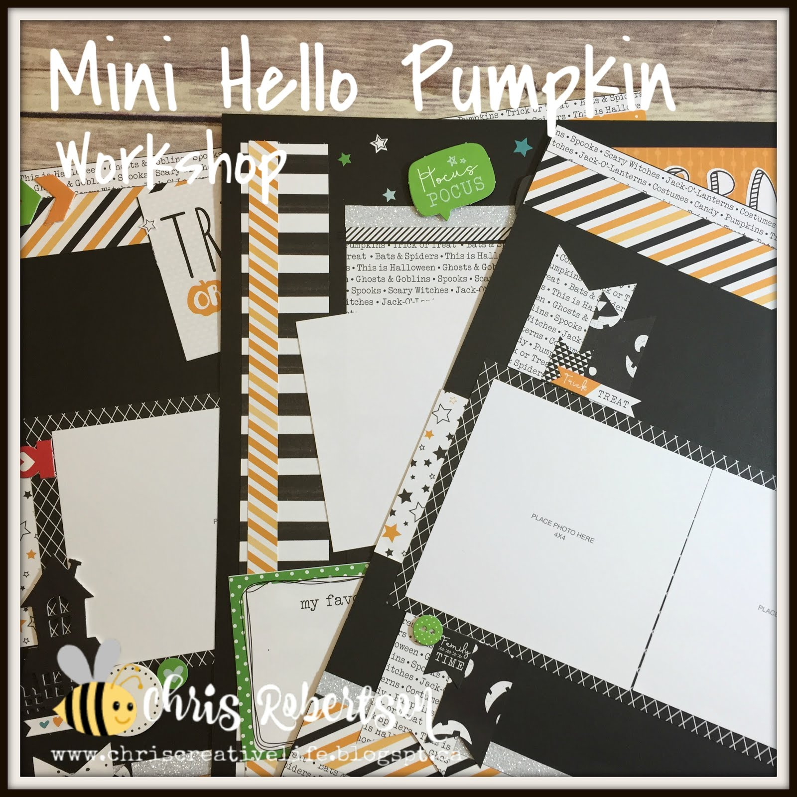 Mini Hello Pumpkin Scrapbooking Workshop