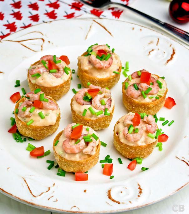 Recept Saladecups gevuld met een feestelijke garnalensalade