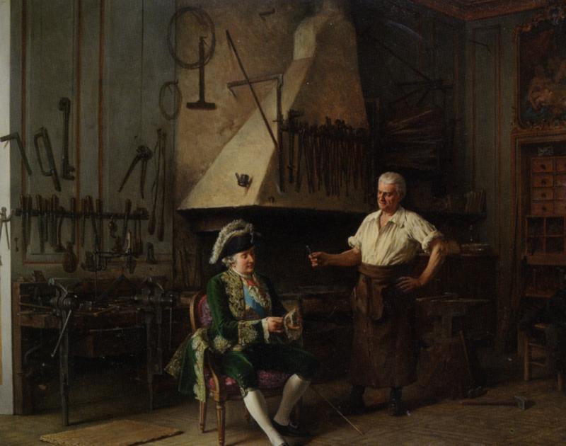 Mes Images: La forge du Roi Louis XVI Tableau !