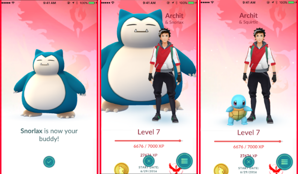 Pokemon Go Buddy System: Candy Distance & Pokemon Size Info