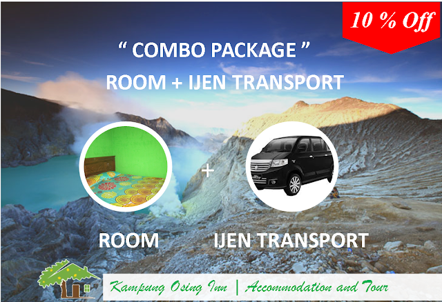 Combo Package [ Room + Kawah Ijen Transport - 10% Off ]