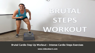 Brutal Cardio Step Up Workout – Intense Cardio Steps Exercises