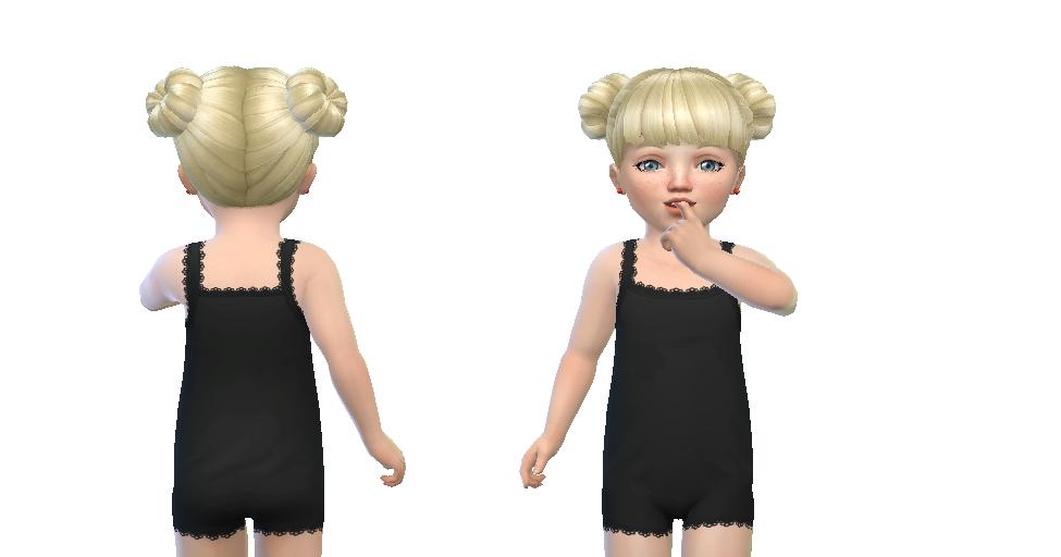 NyGirl Sims 4: Lace Trim Toddler Pajama Bodysuit