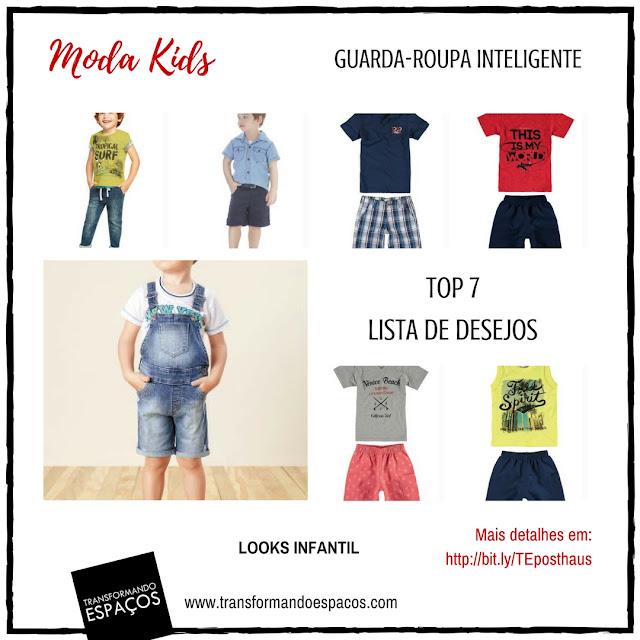 7 looks básicos - Moda Infantil Meninos
