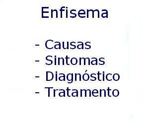 Enfisema causas sintomas diagnóstico tratamento prevenção riscos complicações