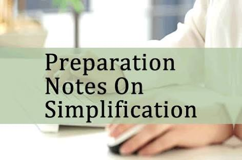 SIMPLIFICATION HAND WRITTEN NOTE WITH SOLVED EXAMPLE AND SHORTCUT METHOD