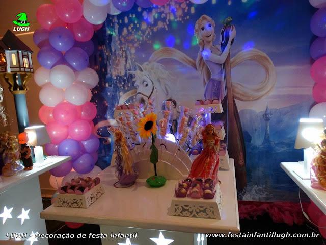 Mesa temática Os Enrolados (Rapunzel) - Festa infantil