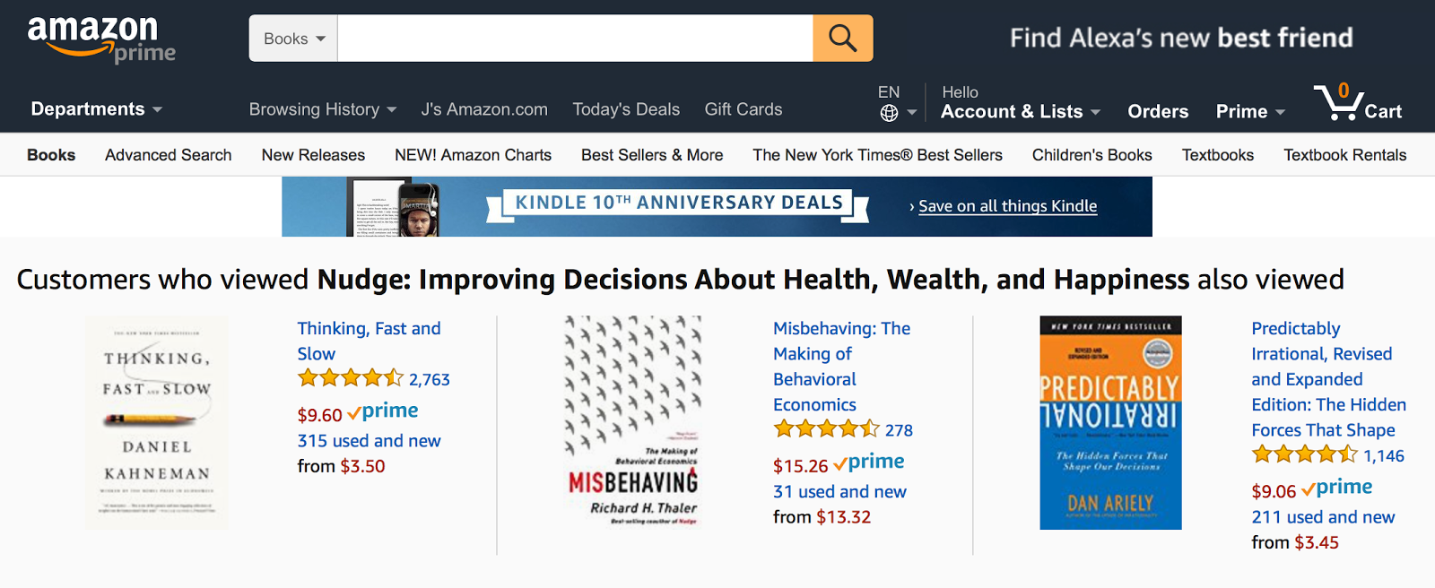 As Amazon proves, when it comes to helping your users make a choice, less is more.