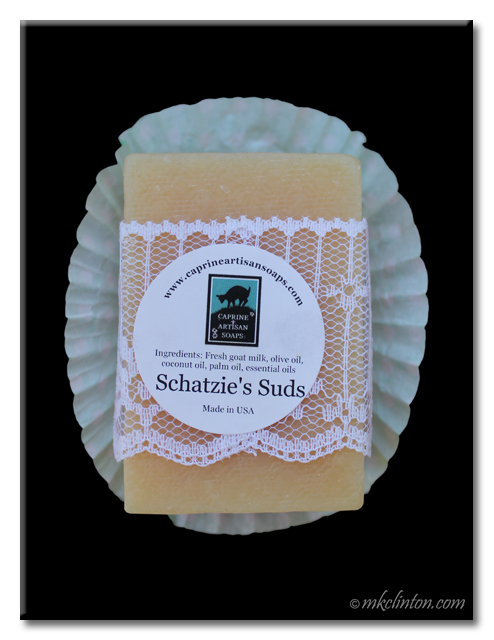 Schatzie's Suds is goat milk soap for dogs!
