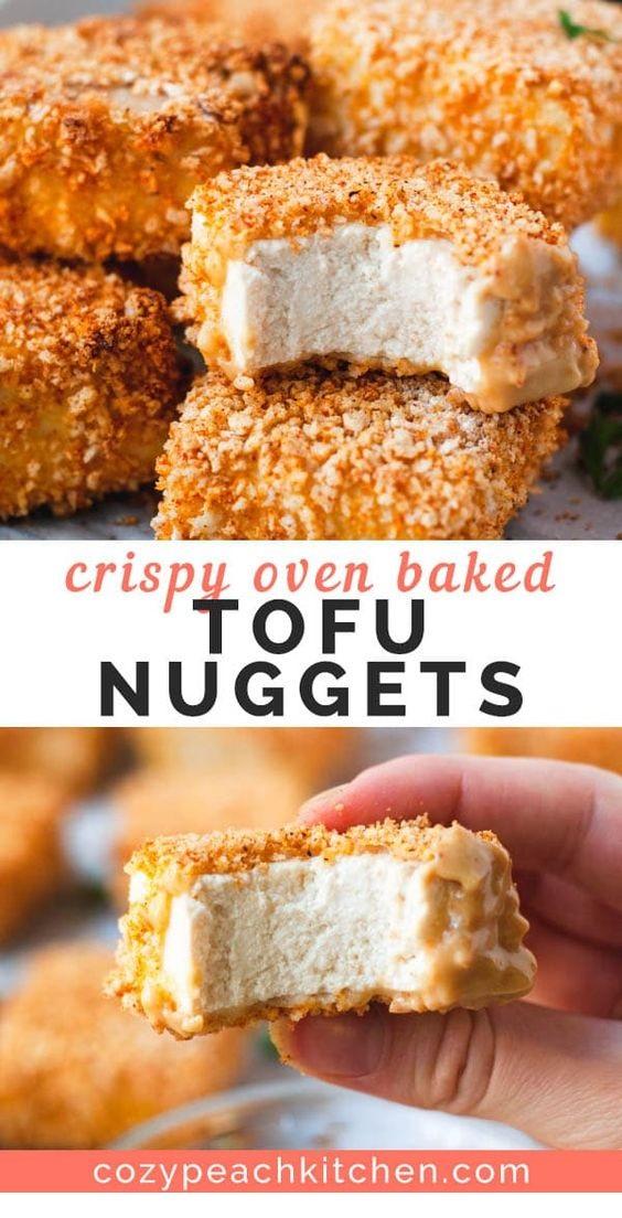 Crispy Breaded Tofu Nuggets