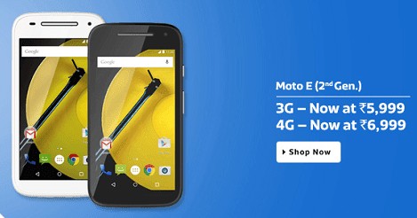 Moto E (2nd Gen) prices dropped in India